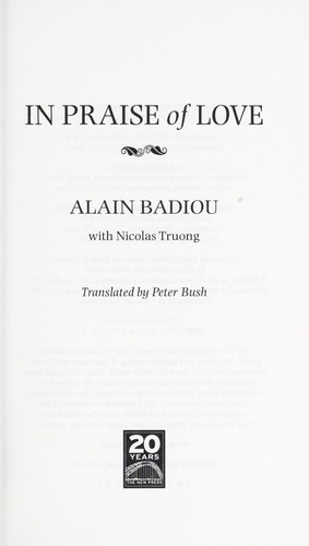 In praise of love (2012, New Press)